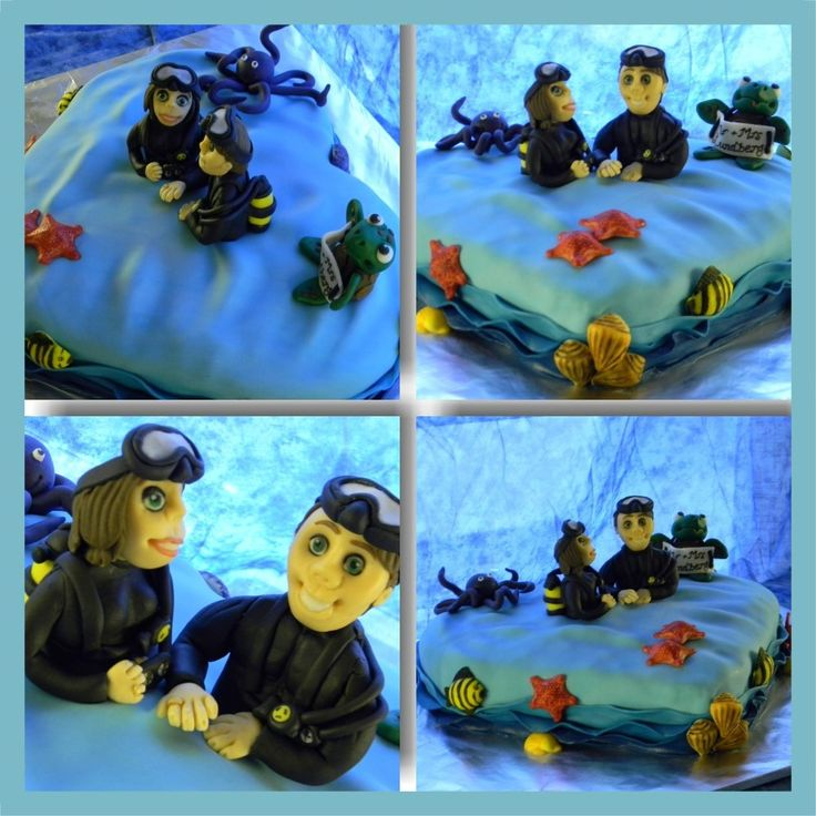 Different angles of the deep sea cake