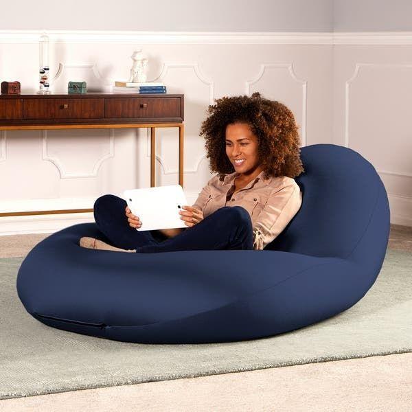 Stylish Blue And Black Bean Bag Sound Chair For Gamers Leather Bean Bag Chair Black Bean Bags Bean Bag Chair