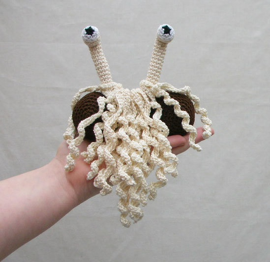 This is from something right?    Flying Spaghetti Monster Crocheted Plushie by SpaghettiMonsterz. $20.00, via Etsy.