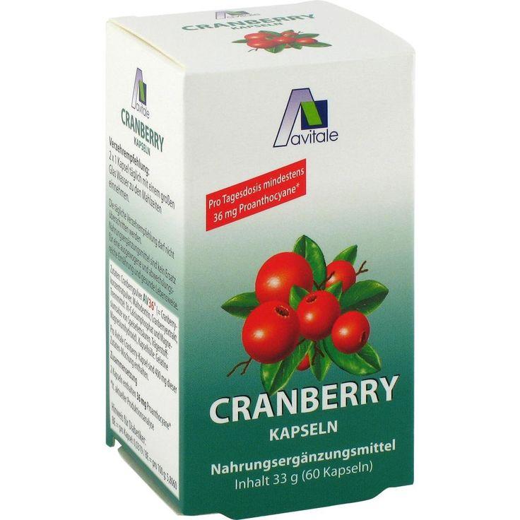 CRANBERRY KAPSELN 400 mg: Die Power-Beeren mit wertvollen Nährstoffen: Vorsorge zum Erhalt einer gesunden Blasenfunktion  Packungsinhalt:…