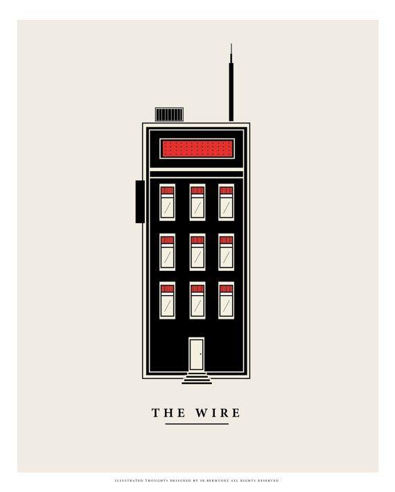 The Wire Diseño inspirado en la serie para tv de por SenorBermudez