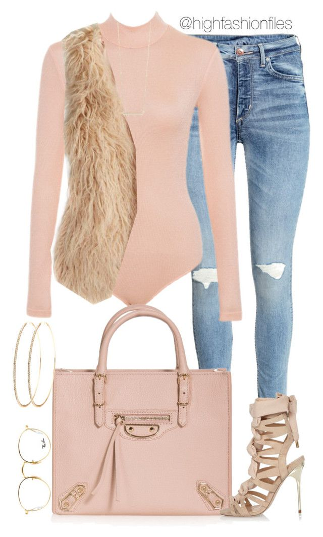 """""""Sweet Dreams"""" by highfashionfiles ❤ liked on Polyvore featuring American Eagle Outfitters, Ray-Ban, Jennifer Meyer Jewelry, Balenciaga and River Island"""