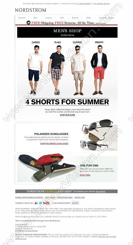Company: Nordstrom Direct   Subject: The 4 Best Shorts for Summer         INBOXVISION, a global email gallery/database of 1.5 million B2C and B2B promotional email/newsletter templates, provides email design ideas and email marketing intelligence. www.inboxvision.c... #EmailMarketing  #DigitalMarketing  #EmailDesign  #EmailTemplate  #InboxVision  #SocialMedia  #EmailNewsletters