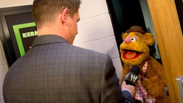 WWE Announcer Josh Mathews & Fozzy Bear!
