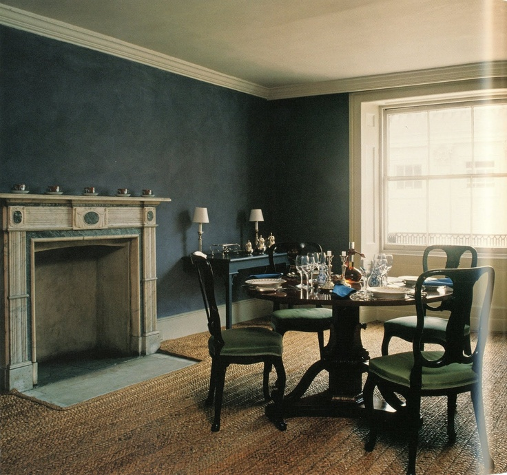 FOR PILAR~: Pauline de Rothschild's London Dining Room by Colefax & Fowler