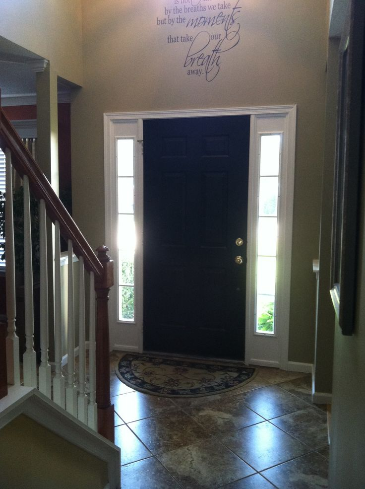 Black Interior Front Door Home Decor Pinterest Black