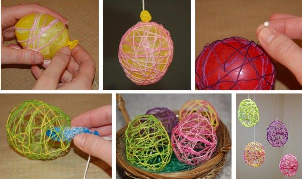 Embroidery Easter Eggs DIY