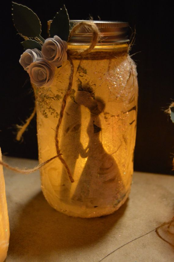 Beautiful fairies in a Jar with LED tea light candle.They are made to order.