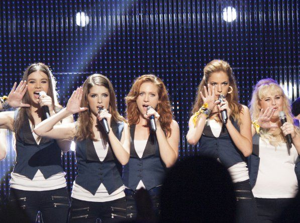 Still of Anna Kendrick, Brittany Snow, Rebel Wilson, Hailee Steinfeld and Alexis Knapp in Pitch Perfect 2 (2015)