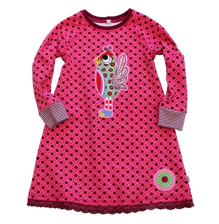 maedchenkleid 104 jerseykleid raglankleid vogel pink etsy kleid