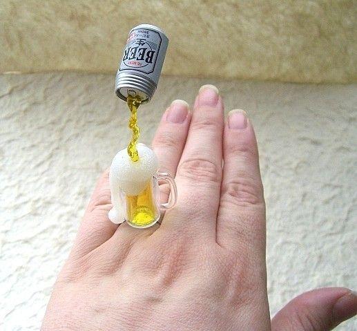 食品サンプルで作った指輪がおもしろい。カツカレー、ビール、メロン、コーヒーなど画像10枚を紹介。 : 伊勢海老太郎ブログ