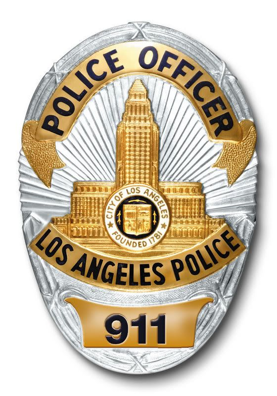 Police Officer Badge   LAPD Badge