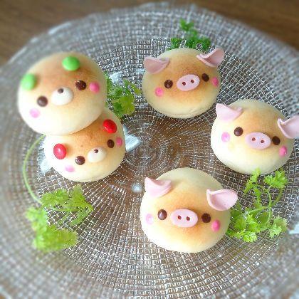 (1) Bear bread & Pig bread | cute food | Pinterest
