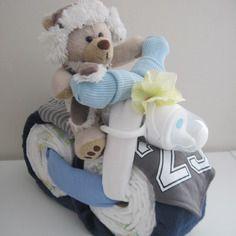 """La baby shower de maman Gâteau de couches """"la moto de bébé"""""""