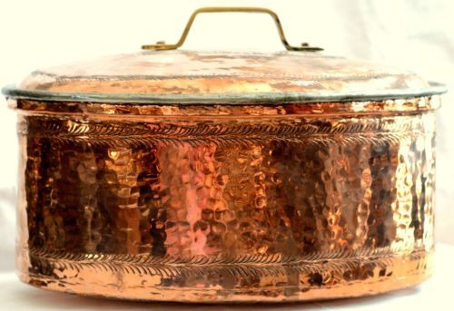 Vintage-Style-Copper-Cookware-Metalware-GREEKHAND-MADE-TRADITIONAL-3400grams