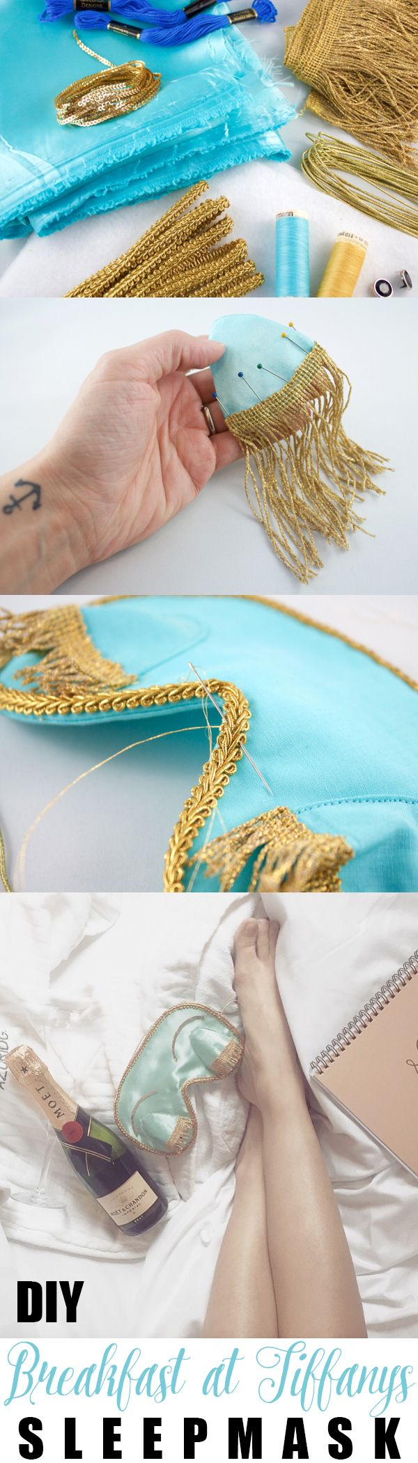 Breakfast At Tiffany's Sleep Mask!... Make your very own!...