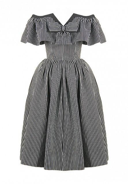 Полосатое платье Yves Saint Laurent