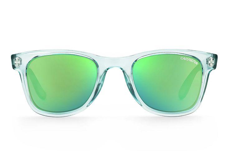Gafas de sol polarizadas con montura transparente, de Carrera.