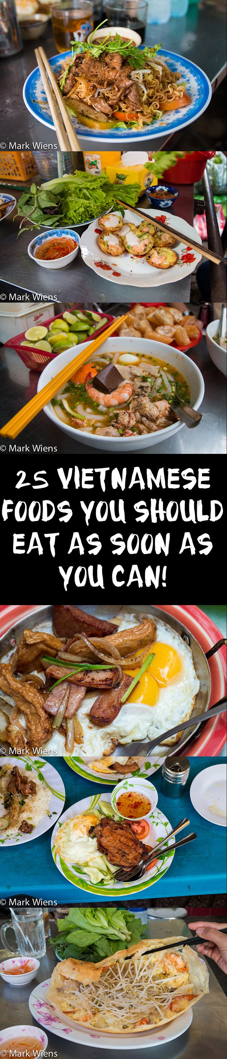 Who else loves Vietnamese food? I think it's an amazing cuisine, with so many diverse flavors made from an abundance of fresh ingredients. This guide includes 25 Vietnamese dishes you've got to try! Full post here: http://migrationology.com/2015/02/vietnamese-food-guide-saigon/ #VietnameseFood #food #Saigon