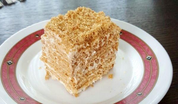 Домашна френска селска торта с бисквити - Рецепта за Домашна френска селска торта с бисквити