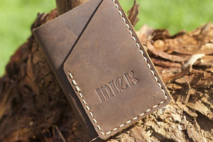 Mens Wallet Leather Fathers Day Special Free embossing by DEADSKIN on Etsy