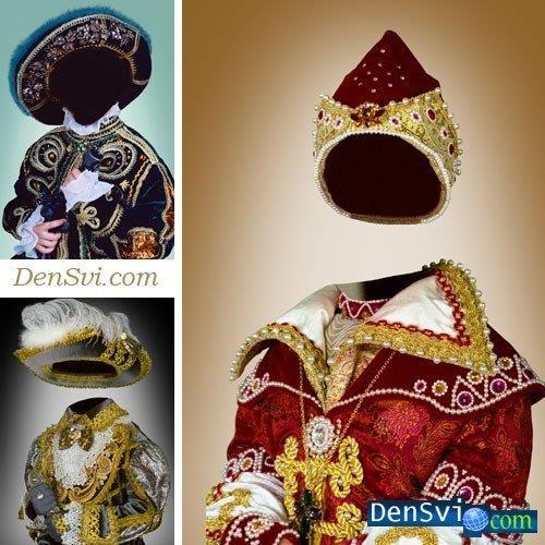 Детские исторические костюмы psd