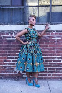 Remix Michelle O. Dress made from African Dutch by LiLiCreations