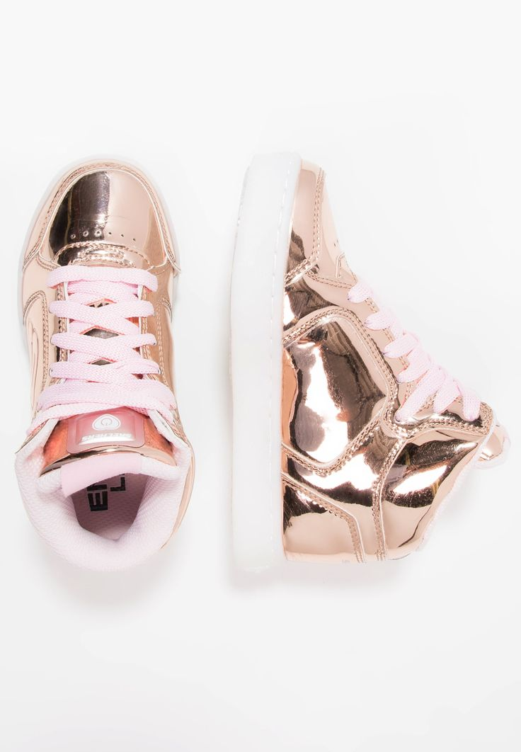 Skechers ENERGY LIGHTS - Korkeavartiset tennarit - rose gold - Zalando.fi