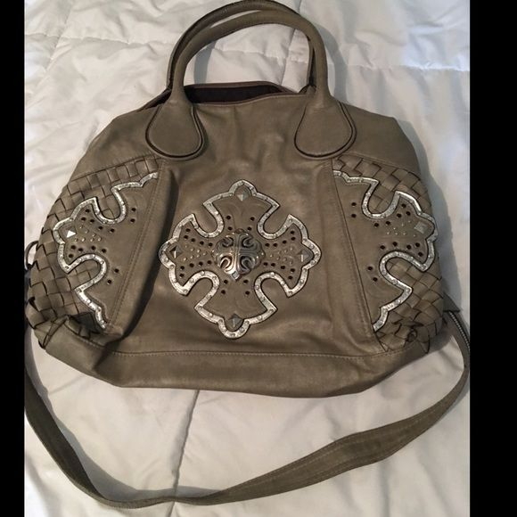Miss Me purse Miss me purse in good condition, very stylish and a great size! Does have some minor wear but the side of purse with bling design is in excellent condition!  All offers welcome :) Miss Me Bags Shoulder Bags