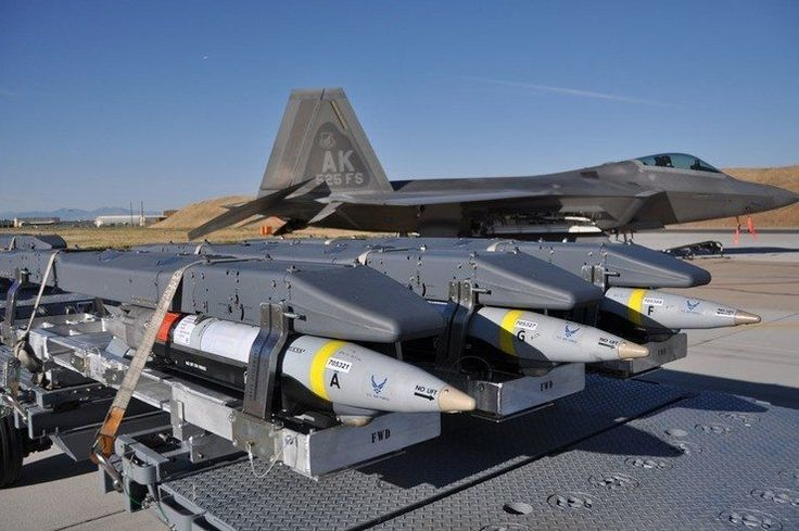 Detractors criticize the F-22 for its lacking of 'qualified weapons.' Outside of the aforementioned Sidewinder, medium range missiles, and JDAM family of bombs, the aircraft has yet to be integrated with new weaponry.
