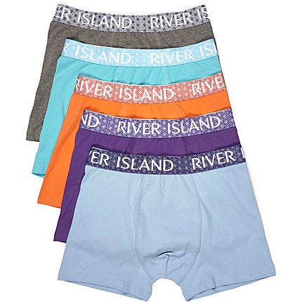 Blue branded trunks pack £22.00