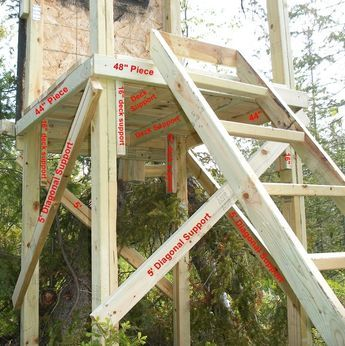 Homemade Deer Stands | Assembling Your Homemade Deer Hunting Box Stand Plans - Building the ...