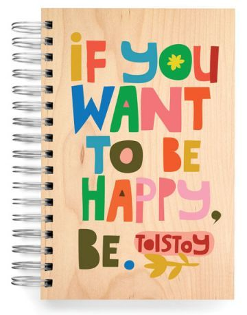 JOURNALS :: JUMBO JOURNALS :: If you want to be happy... Jumbo Journal - Ecojot - eco savvy paper products