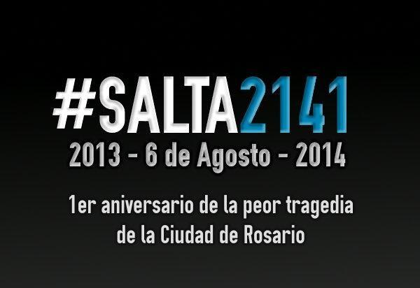 #Salta2141 A 1 año de la peor tragedia en #Rosario, sin justicia ni responsables para variar en este país... pic.twitter.com/CRuJIOal3d