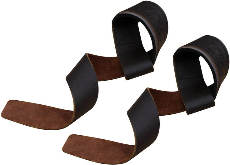 RDX Brown Leather Wrist Weight Lifting Straps