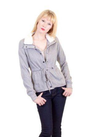 Soho Girls Fleece Collar Snaps Zip Up Drawstring Tie Waist Mini Front Pockets Lined Jacket Heather Gray Small Soho Girls. $25.00