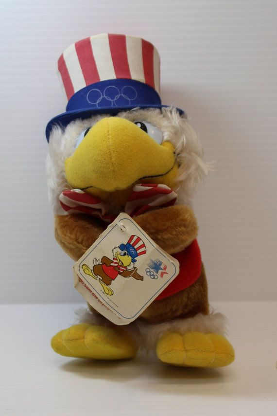 Sam The Olympic Eagle Mascot, Vintage Olympics Mascot, 1984 Los Angeles Olympics toy, Collectible Olympics toy, Olympics mascot toy