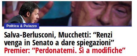 """News: Salva-Berlusconi, Mucchetti: """"Renzi venga in Senato a dare spiegazioni"""""""