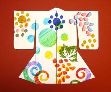 Make A Kimono Activity - free template