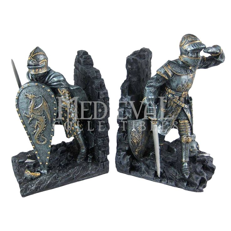 Medieval Knight Bookends   93434 By Medieval Collectibles