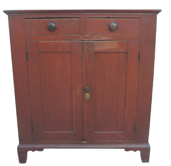 Early 19th century Leigh Valley Pennsylvania, original dry red painted Jelly  Cupboard, ~♥ - 27 Best Antique Jelly Cupboard Images On Pinterest Jelly