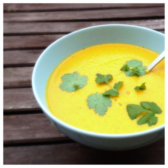 Morotssoppa med kokosmjölk (vegan) från Nillas Kitchen