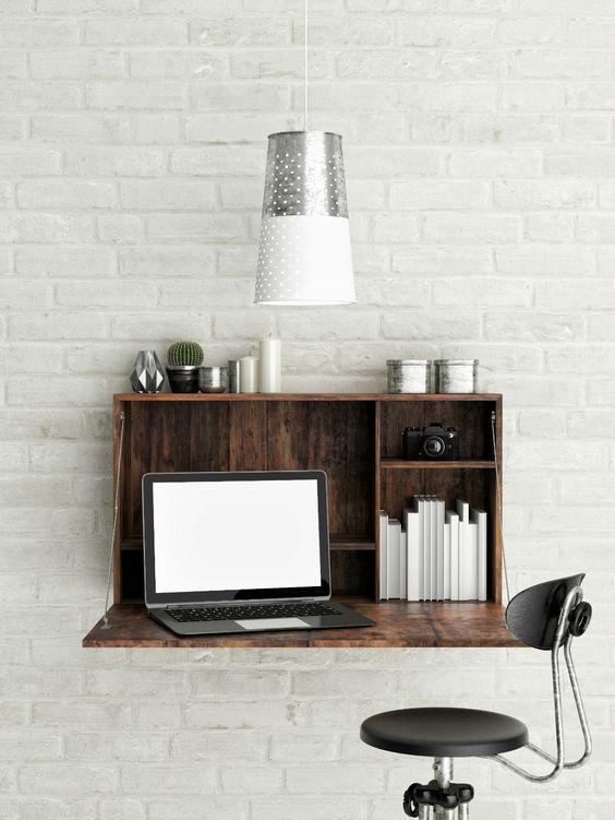 Mesas Dobráveis De Parede Solução Charmosa E Baratinhas Para Home Office Com Pouco Espaço Ou Apartamentos Pequenos