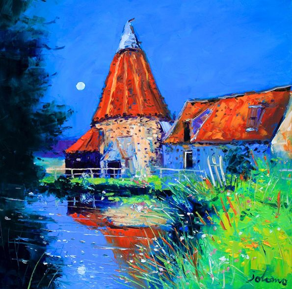 John Lowrie Morrison (Jolomo) - Moonlight Reflections Preston Mill
