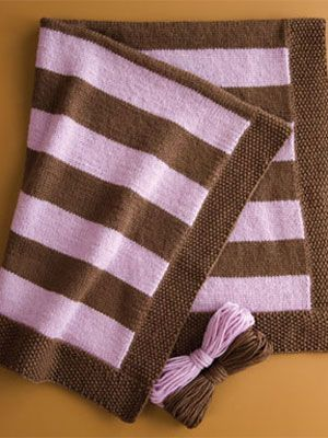 Craft Project: Striped Baby BlanketKnits Baby Blankets, Knits Stripes Blankets, Blankets Tutorials, Crafts Projects, Baby Knits, Knits Blankets, Stripes Baby, 12 Stripes, Blankets Pattern