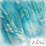Hand Painted Silk Scarf Winter watercolor design 4