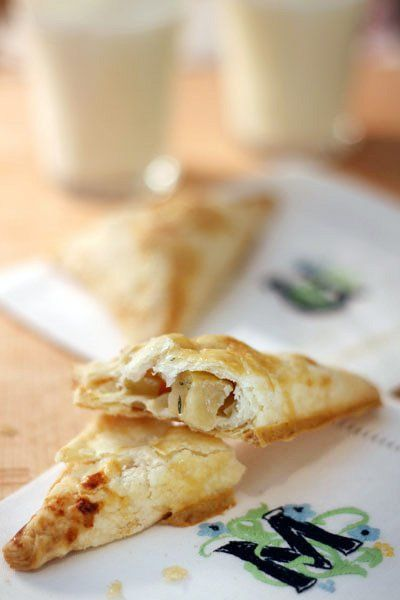 From thekitchn:  Rosemary Apple Turnovers with Honey.  Yumm