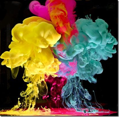 Paint in water