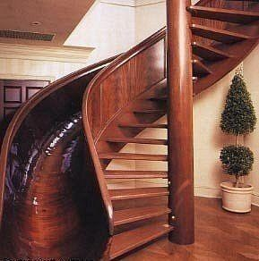 What fun!!!  My kids would love this!!!Ideas, Spirals Staircases, Spiral Stairs, Sliding Stairs, Dreams House, Future House, Stairs Sliding, Dream Houses, Spiral Staircases