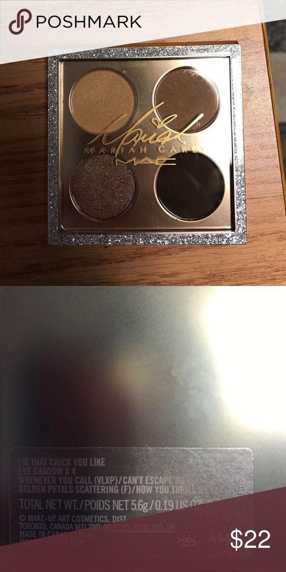 Mariah Carey Eyeshadow Pallet Brand new eyeshadow pallet. The shadow on the bottom right is not black as it appears in the photo. It is a dark brown. mariah carey Makeup Eyeshadow